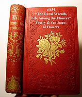 rural wreath life among the flowers antique book