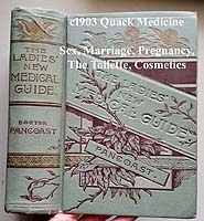 Pancoast Ladies new medical guide antique book
