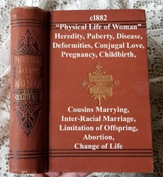 c1882 Physical life of woman book antique