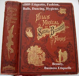 c1889 Hills Manual of social and business forms book