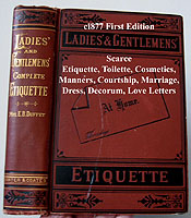 Ladies and Gentlemens book of etiquette antique book