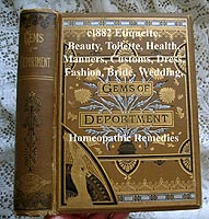 Gems of Deportment etiquette fashion decorum antique book