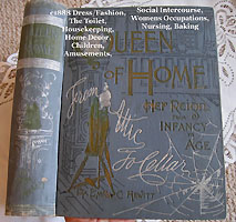 Queen of home antique book etiquette fashion