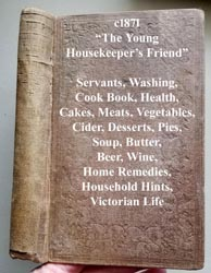 c1871 Young Housekeepers Friend book