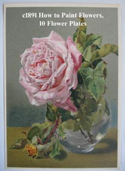 Naftel Flowers and how to paint them antique book