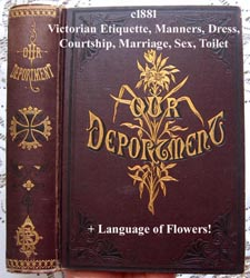 c1881 Our Deportment antique etiquette book