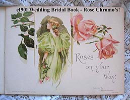 Antique bride wedding book